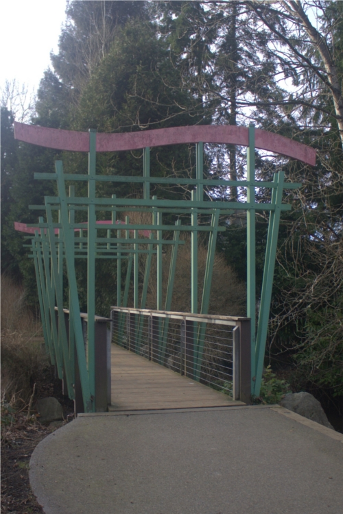 Meadowbrook Pond footbridge