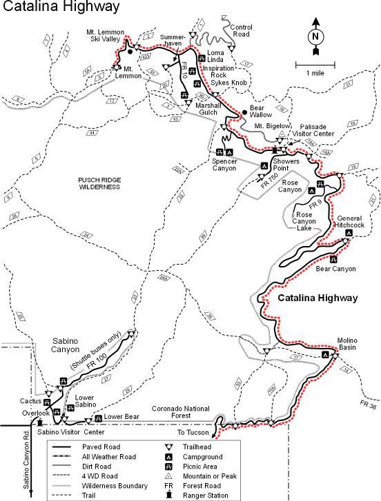 Catalina_Highway_Map