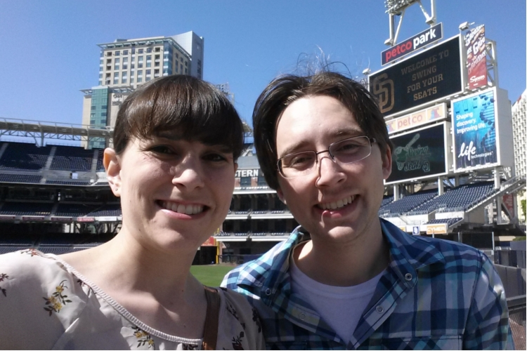 Stephanie and Andrew Petco Park