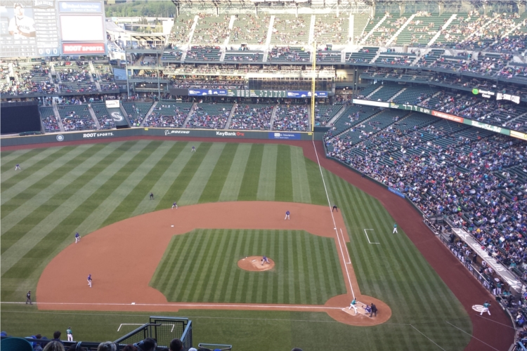 view from our seats - Mariners April 25 2014