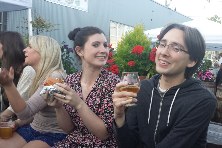 Danni+Andrew+Fremont Brewing