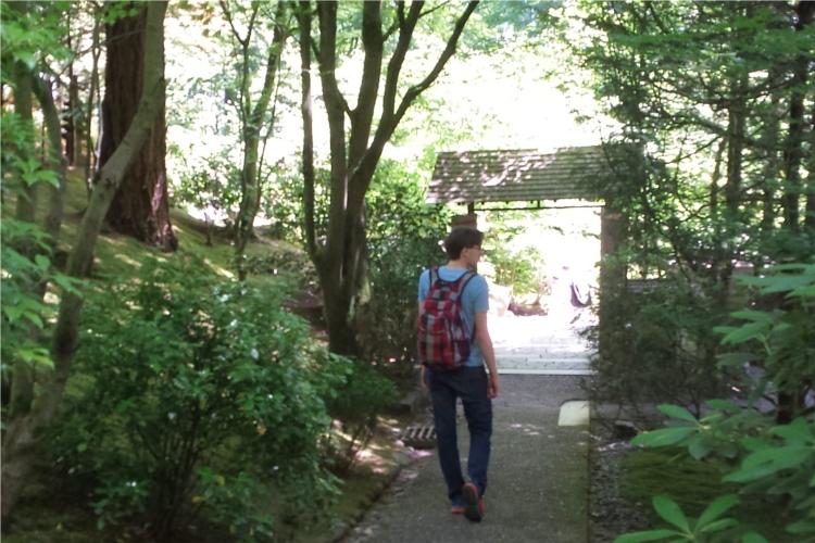 Andrew torii Japanese garden
